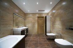 badkamer ideeen bruine tegels - Google zoeken