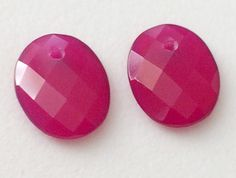 Pink Chalcedony Faceted Oval 2 pcs Matched Pair by gemsforjewels
