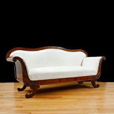Biedermeier Sofa in Polished Mahogany, Northern Europe, c.1840
