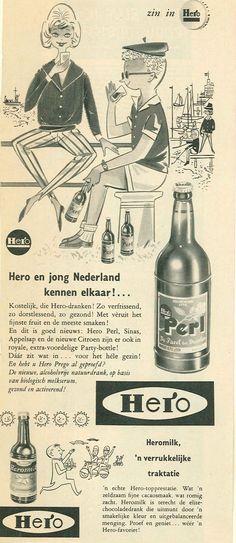 Reclame voor Perl, frisdrank van Hero, 1961