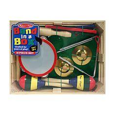 Esplora il mondo del ritmo con questo stupendo set composto da ben dieci diversi strumenti musicali, il tutto confezionato in un box di legno!