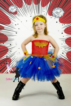 Wonder Woman tutu dress and costume.
