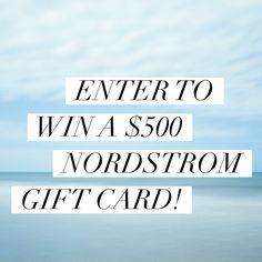 $500 Nordstrom GC Giveaway