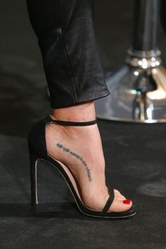 Beautiful exposed foot in Stiletto