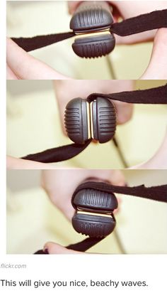 How to curl with a straightner- and I keep twisting as I pull down