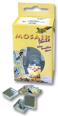Die Mosaiksteine sind kleine Helferlein zum Basteln, mit denen sich Wohnaccessoires kunstvoll und leicht verschönern lassen. Mehr auf www.folia.de