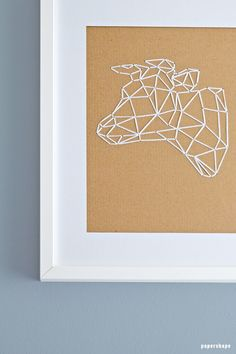 Cow as low poly animals embroider on cardboard, origami cow, (with free template) Fun Crafts, Arts And Crafts, Paper Crafts, Cow Drawing, Cool Wall Decor, Geometric Drawing, Cow Art, Cool Walls, Low Poly