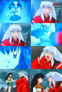 Inuyasha and Kagome. Lol I remember this part. So funny