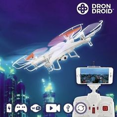 If you want to test yours and your friends / family's skill, enjoy the Hanks drone droid to the max! This great flying drone has a videocamera, rotation, LED lights and remote control App Store, Usb, Post Bank, Bluetooth, Flying Drones, Smartphone Holder, La Pile, Lumiere Led, Gadgets