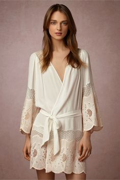BHLDN Kasia Robe in  Bride Bridal Lingerie Chemises & Robes at BHLDN