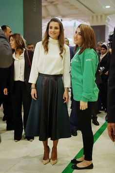 Queen Rania of Jordan attends the opening of the first regional Teacher Skills Forum 2014 at the King Hussein Bin Talal convention center on 06.12.2014 in the Dead Sea, Jordan.