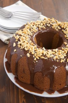 Peanut butter and chocolate really shine in this simple Peanut Butter Bundt Cake with Milk Chocolate Ganache! - Bake or Break