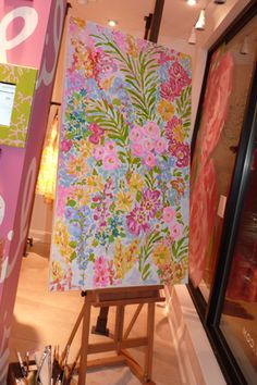Lilly Pulitzer painting