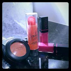 MAC Eyeshadow/VS double balmstick & Sexy lipgloss MAC Eyeshadow In-rule (coral) size .05 oz, VS (1)double balmstick citrus & VS (2) Very Sexy lipgloss in passion (small size) - All NEW items!! Victoria's Secret Makeup Lip Balm & Gloss