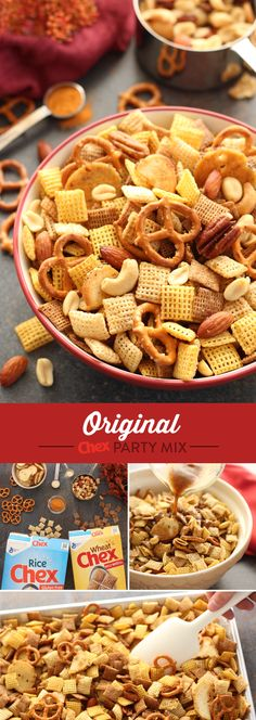 Original Chex Party Mix is one of our most popular recipes for Thanksgiving and a delicious holiday tradition. Ready in just 15 minutes, this classic recipe will bring everyone together during any gathering and keep you from spending too much time in the kitchen!