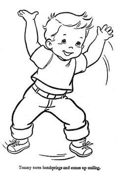 Çocuk Desenli Nakış Şablonları