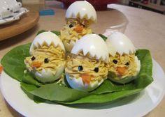 Uova sode ripiene… di pulcini!