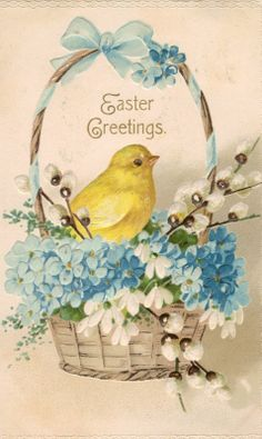 Vintage Easter Postcards | love this beautiful angel sincerely lynn
