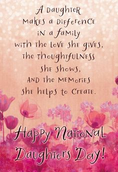 Happy Mothers Day Daughter, Daughter In Law Quotes, Happy Birthday Quotes For Daughter, I Love My Daughter, Happy Birthday Mom, Birthday Sayings, Card Birthday, Birthday Wishes, National Daughters Day