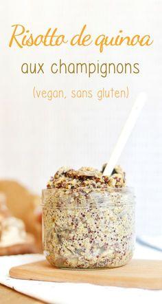 """""""One pot"""" : Risotto de quinoa aux champignons (vegan, sans gluten - Delicious Foods Beste Cocktails, Plat Vegan, One Pot Pasta, Fat Loss Diet, Stop Eating, Paleo Diet, Vegan Gluten Free, I Foods, Food Inspiration"""