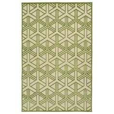 Green and cream intertwined squares