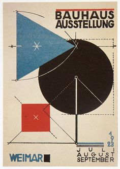 This style of Bauhaus poster will let me form a parallel grid base.