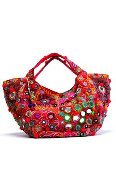red boho tribal bag by antik batik <3 | spring-summer style inspiration