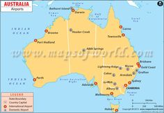do you know how many major airports are there in australia count and see airports australia map