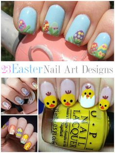 BEAUTY | 24 Easter Nail Art Designs check out www.MyNailPolishObsession.com for more nail art ideas.