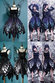 Pretty Outfits, Pretty Dresses, Beautiful Dresses, Gothic Mode, Gothic Lolita, Lolita Style, Gothic Girls, Anime Outfits, Mode Outfits