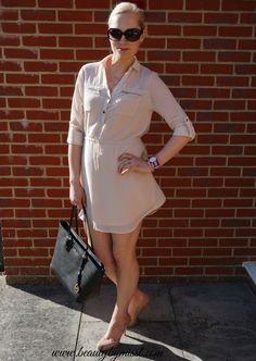 OOTD: Blue Vanilla Chiffon shirt dress via @beautybymissl