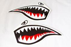 Jet Fighter Tiger Shark Roller Derby Helmet by Representartco, $12.00