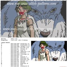 princess_mononoke_cross_stitch_pattern_.jpg (JPEG-afbeelding, 3000 × 3000 pixels)