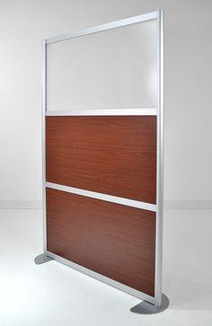 4' Screen with Wood Melamine & Translucent Panels