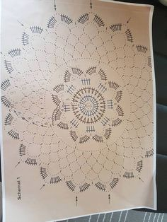Best 11 Tina's handicraft : & patterns Dreamcatcher & mandala Crochet Mandala Pattern, Crochet Chart, Crochet Squares, Filet Crochet, Crochet Doilies, Crochet Stitches, Crochet Patterns, Crochet Ornaments, Crochet Snowflakes