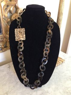 Vintage Musi shoe clip on a horn chain statement by GildDesigns, $160.00