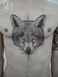 Valentin Hirsch - so crisp and perfect all of this artist's tattoos are perfect