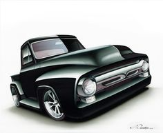 Custom Ford F-100 drawing