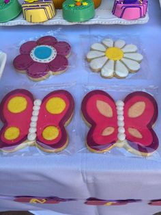 Cookie favors at a butterfly birthday party! See more party planning ideas at CatchMyParty.com!