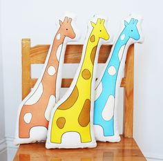 printed giraffe pillow in rose SALE by katedurkin on Etsy, $22.00