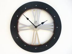 Drive Shaft I Modern Wall Clock Large by All15Designs on Etsy