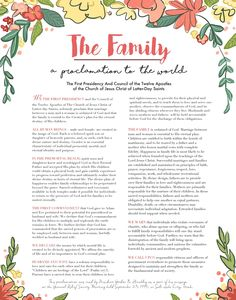 Pace Paintings Blog: FREE printable download of The Family: A Proclamation to the World