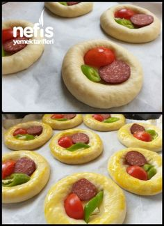 Squishy Pizza Pastry (Patisserie-Rezept) – Köstliche Rezepte - My CMS Donut Recipes, Pastry Recipes, Cake Recipes, Dessert Recipes, Cooking Recipes, Pizza Food Truck, Pizza Pastry, Best Bakery, Mini Pizzas