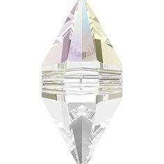 5747 Swarovski Crystal Double Spike Beads 12mm Crystal AB / 12mm - Pack of 4 Bluestreak Crystals