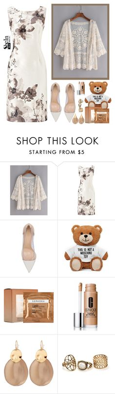 """""""SheIn contest"""" by erminm ❤ liked on Polyvore featuring Jacques Vert, Gianvito Rossi, Moschino, Sephora Collection, Clinique and Alexis Bittar"""