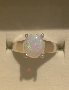 Large Opal Ring  Genuine Australian Opal Sterling by OpalEmbers, $159.00