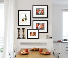 Your kitchen table's the perfect place to showcase seasonal memories, like #Halloween photos. This small gallery of 4 (EasyGallery®) frames can hold more than 50 of your favorites throughout the year(s).   You can hang this gallery in less than 10 minutes – including matting & framing.