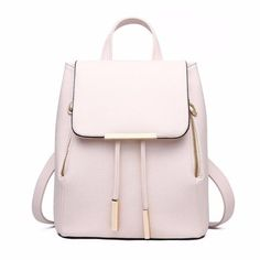 Huabor Womens Backpack Purse PU Leather Zipper Bags Fashion Casual Rucksack Satchel and handbag, Fashion Bags, Fashion Backpack, Fashion Handbags, Ad Fashion, Womens Fashion, Spring Fashion, Style Fashion, Bag In Bag, Bag Pack