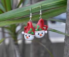 Christmas earrings snowman earrings xmas earrings cute