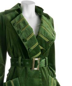 green velvet coat lapels by carbonated